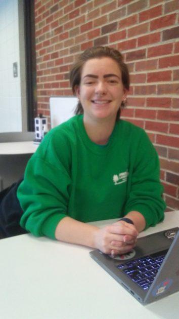 Emily Simonton, senior biology major and peer tutor