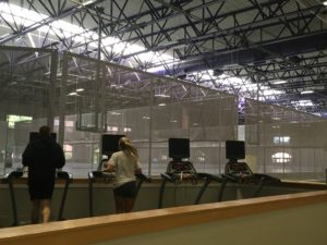 Students utilize the treadmills available in the multipurpose area.