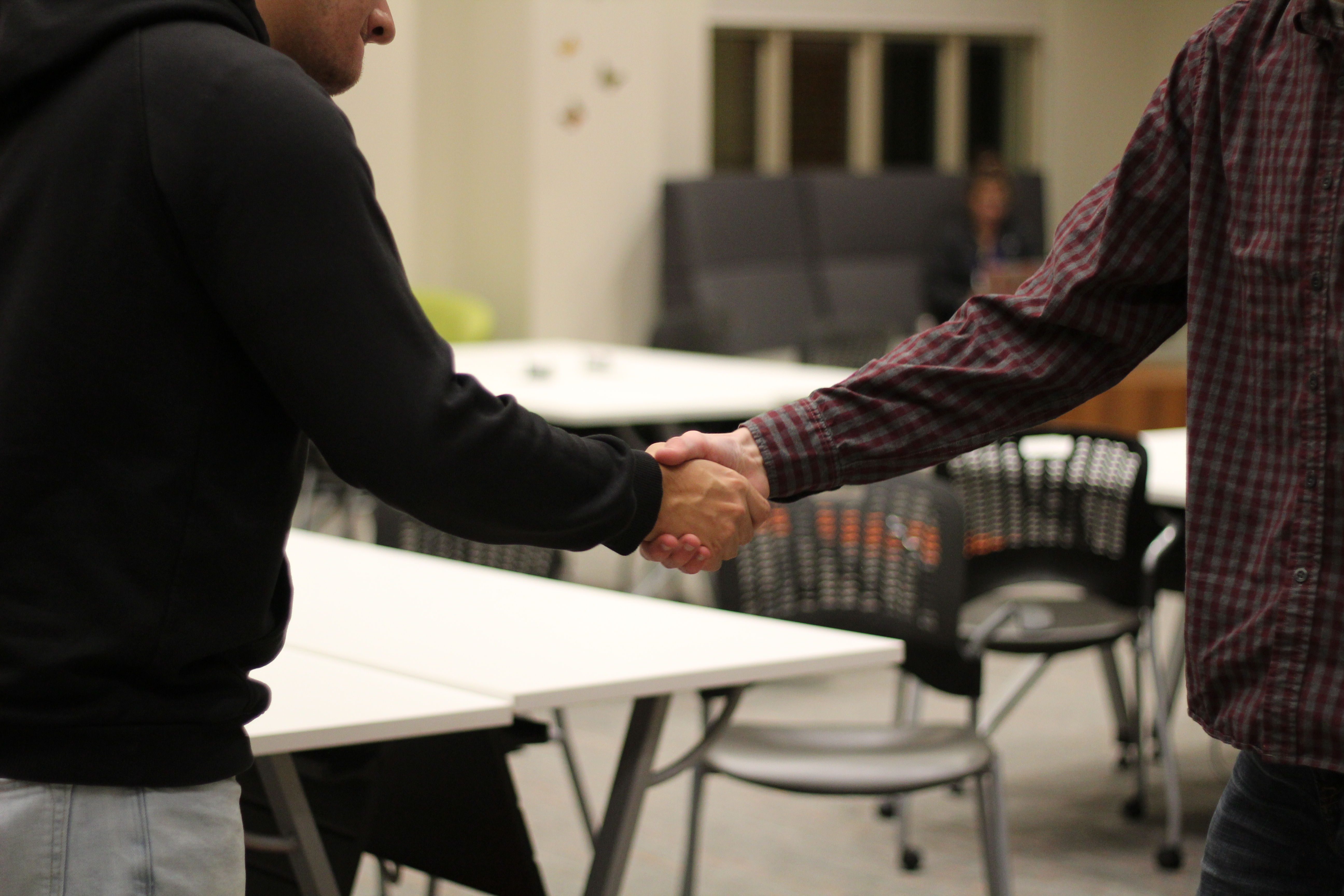 Let's talk about handshakes…