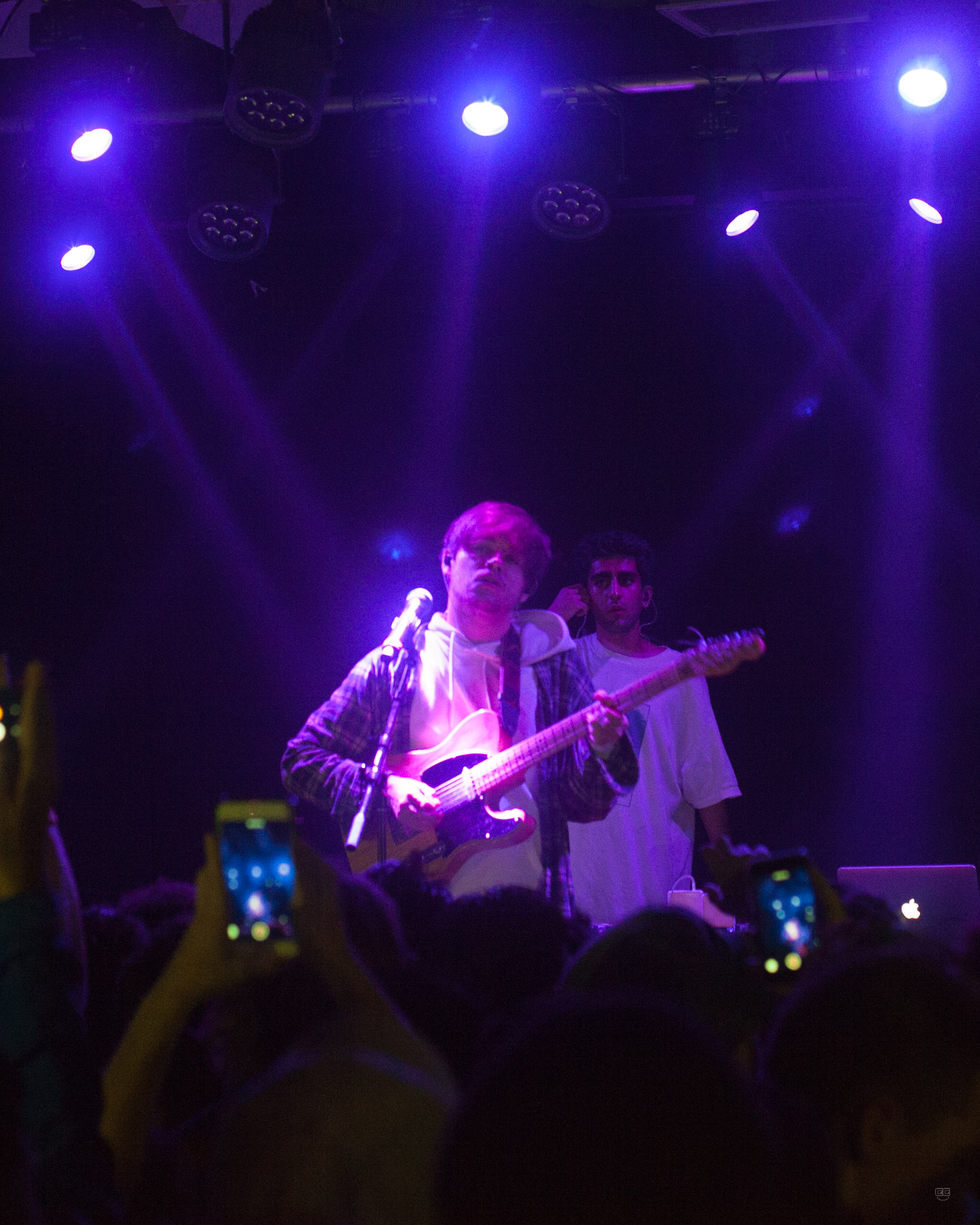 Guitarist and Vocalist bearface slows it down for everyone alongside DJ Romil Hemani during the band's first encore onstage at El Club in Detroit on 9/7/17