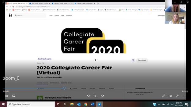 A coronavirus-safe career fair