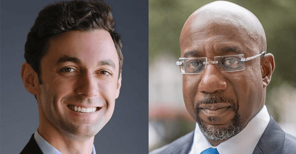 Picture of Jon Ossoff and Raphael Warnock.