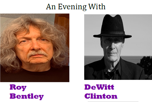 Capital welcomes poets Roy Bentley, DeWitt Clinton for virtual reading