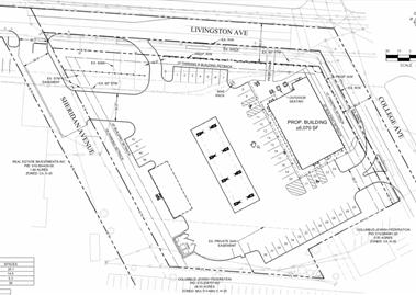 Screenshot of a sketch detailing the Sheetz development plan.