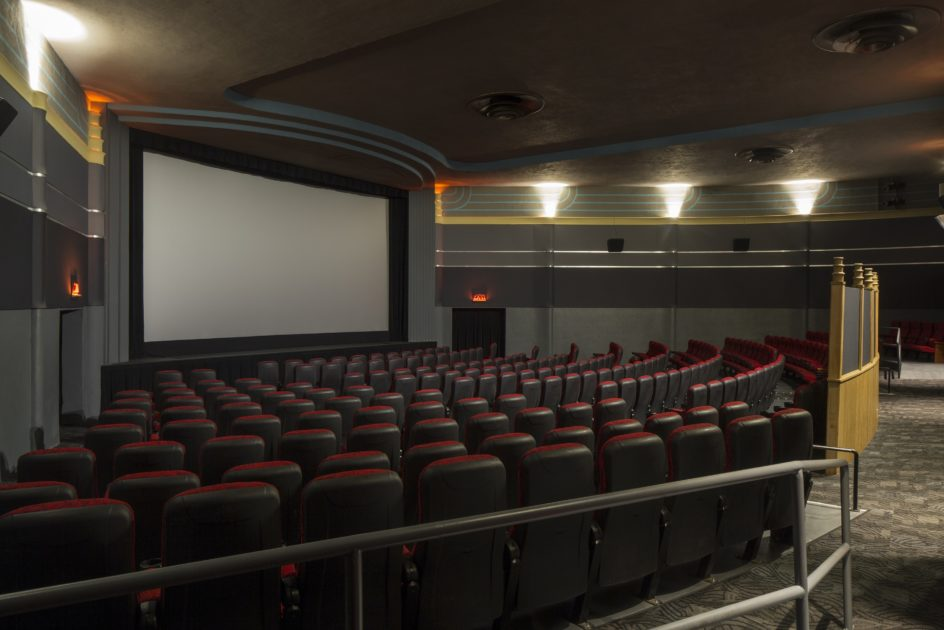 The image shows the largest theatre room inside of the Drexel.