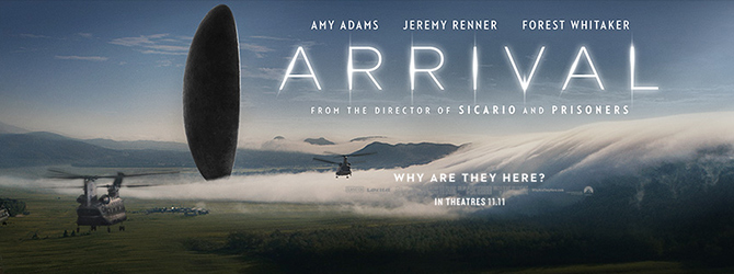 Aliens communicate in the moment of 'Arrival'