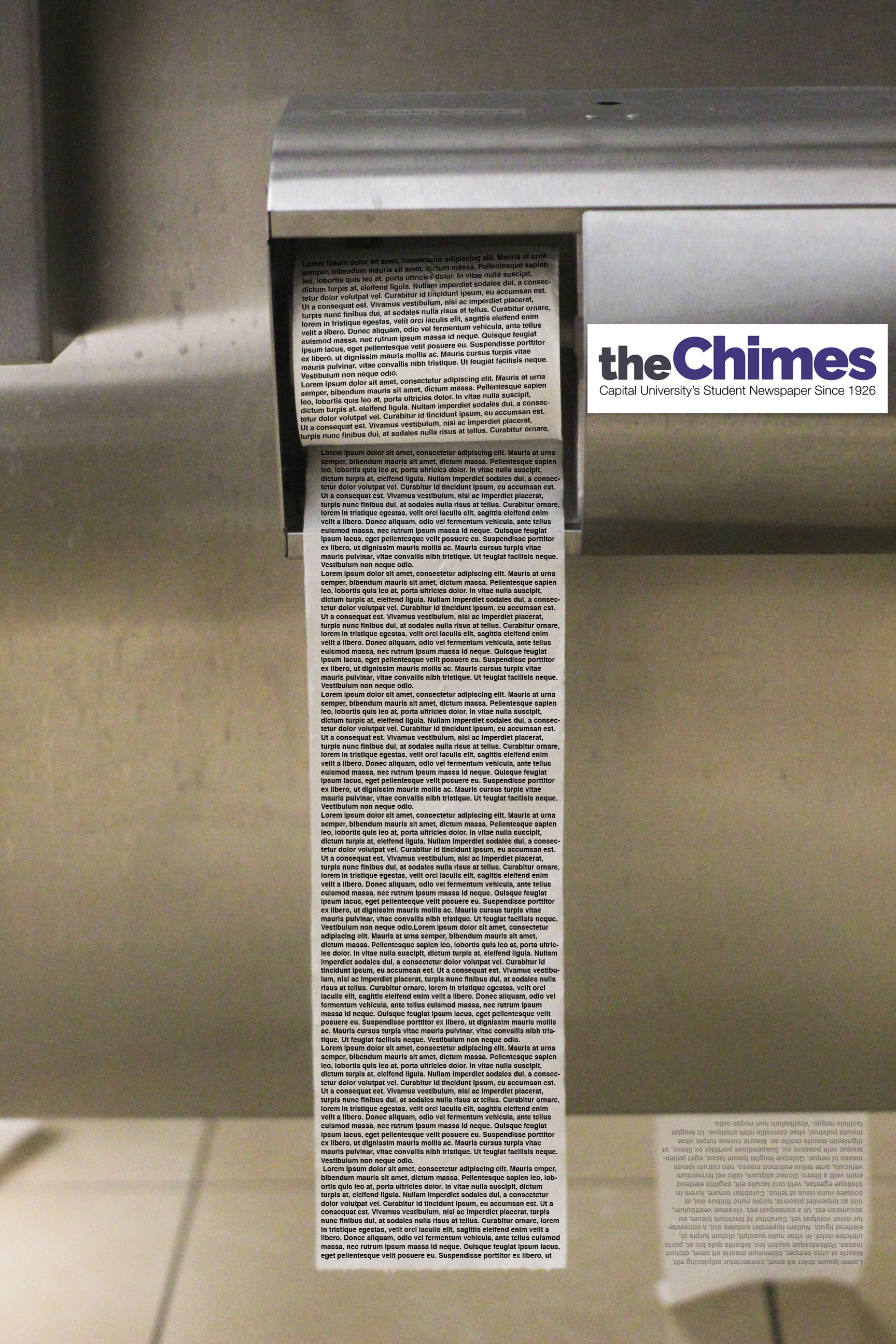 The Chimes moves to printing on toilet paper due to budget cuts